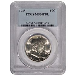 1948 Franklin Half Dollar Coin PCGS MS64FBL