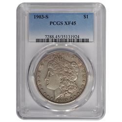 1903-S $1 Morgan Silver Dollar Coin PCGS XF45