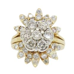 14KT Two Tone Gold 1.50ctw Diamond Ring