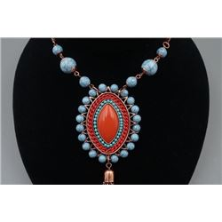 A Pendant with Leather Necklace.