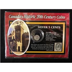 CANADA'S HISTORIC 20th CENTURY COINS AND STAMP SETS  .925 SILVER