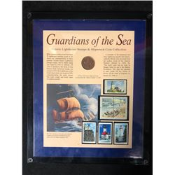 GUARDIANS OF THE SEA (HISTORIC LIGHTHOUSE STAMPS & SHIPWRECK COIN COLLECTION)