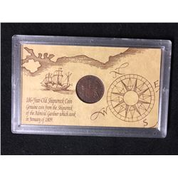186 YEAR OLD SHIPWRECK COIN (1809)