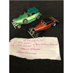 VINTAGE DIE-CAST TOY CAR LOT (MADE IN ENGLAND) 1970'S