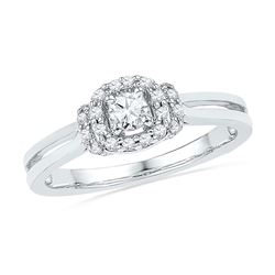 0.25 CTW Diamond Solitaire Bridal Engagement Ring 10KT White Gold - REF-26W9K