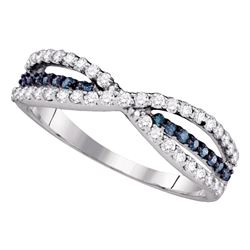 0.49 CTW Blue Color Diamond Ring 14KT White Gold - REF-32X9Y