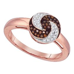 0.18 CTW Red Color Diamond Fashion Ring 10KT Rose Gold - REF-26K9W