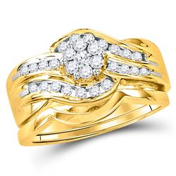 0.50 CTW Diamond Bridal Wedding Engagement Ring 14KT Yellow Gold - REF-75Y2X