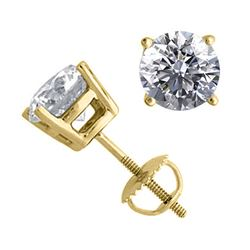 14K Yellow Gold 2.06 ctw Natural Diamond Stud Earrings - REF-519X2K-WJ13338