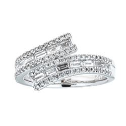 0.85 ctw Diamond Ring - 18KT White Gold