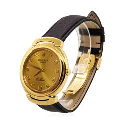 Rolex Men's Cellini Wristwatch - 18KT Yellow Gold