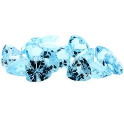 60.59 ctw Trillion Cut Natural Blue Topaz Parcel