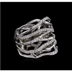 0.83 ctw Diamond Ring - 14KT White Gold