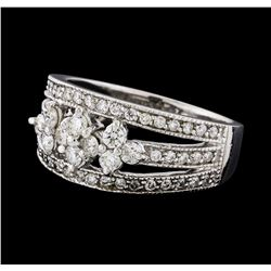 0.73 ctw Diamond Ring - 14KT White Gold