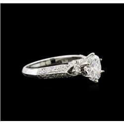GIA Cert 1.51 ctw Diamond Ring - 18KT White Gold