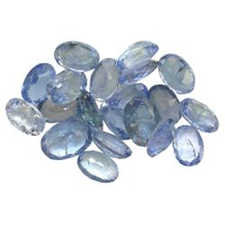 10.12 ctw Oval Mixed Tanzanite Parcel