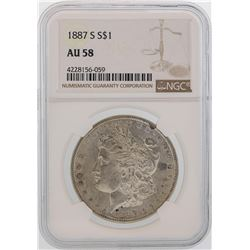 1887-S $1 Morgan Silver Dollar Coin NGC AU58