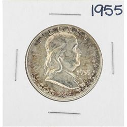 1955 Franklin Half Dollar Silver Coin