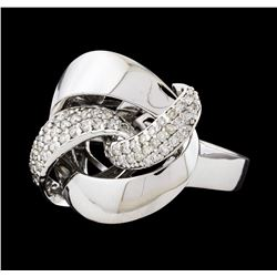 0.51 ctw Diamond Ring - 14KT White Gold