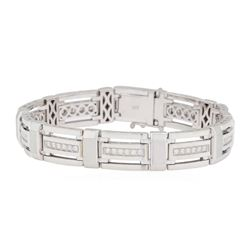 1.35 ctw Diamond Bracelet - 14KT White Gold