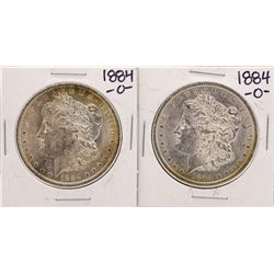 Lot of (2) 1884-O $1 Morgan Silver Dollar Coins