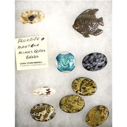 Cabochons, Rock Specimen, and Carved Stone Fish