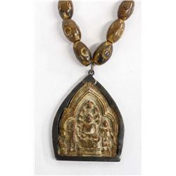 Thai Buddhist Clay Amulet Pendant