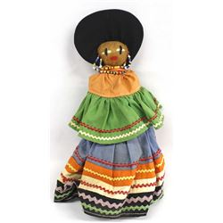 Native American Seminole Doll, Traditional Dress
