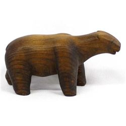 Native American Pueblo Carved Wood Bear Fetish