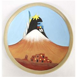 Hopi Pottery Plate by Gertrude Adams