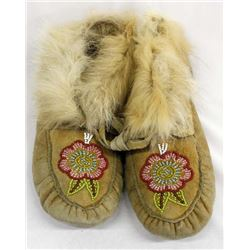 Native American Woodland Beaded Leather Moccasins