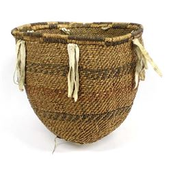 Vintage Native American Apache Burden Basket