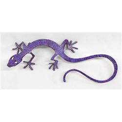New Mexico Metal Art Purple Lizard