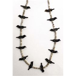 Native American Navajo Bird Fetish Necklace