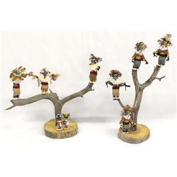 2 Navajo Kachina Trees by T. Galvan