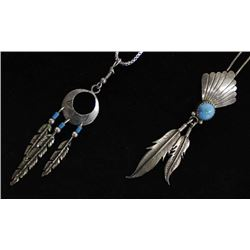 2 Native American Navajo Pendant Necklaces