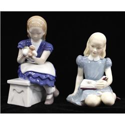 2 Vintage Fine Bone China Figurines