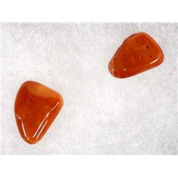 2 Pieces of Red Coral, 15.05 Carats