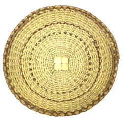 Winnebago Triple Sweetgrass Basket