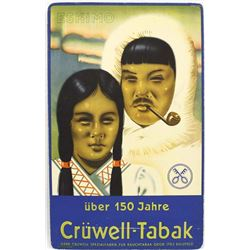 Advertising Cardboard Sign Eskimo Cruwell-Tabak