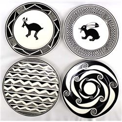 Anasazi Traders Mimbres Designed Decorative Plates