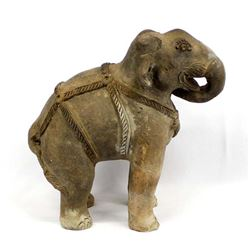 Vintage Heavy Pottery Elephant made in Thailand