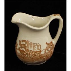 Vintage Wallace Chuckwagon China Cream Pitcher