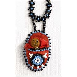 Vintage Zuni Beaded Papoose Doll Necklace