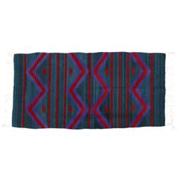 Mexican Fringed Wool Textile Rug