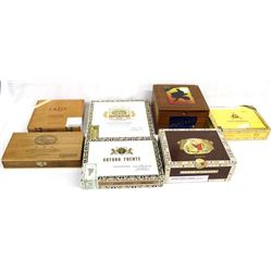 7 Cigar Boxes like New