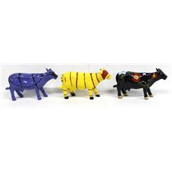 3 K's Collection Cow Figurines
