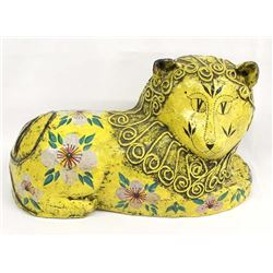 Vintage Mexican Paper Mache' Lion by G. Taccogna