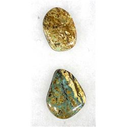 2 Natural Turquoise Cabachons