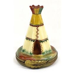 Vintage French Limoges Teepee Trinket Box